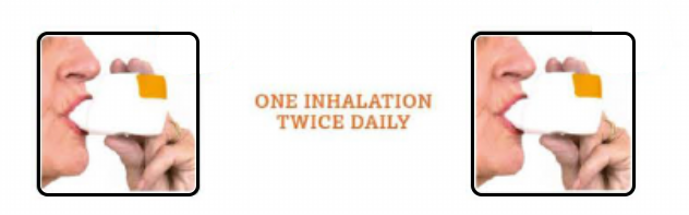 One inhalation twice-daily
